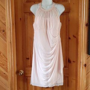 David's Bridal blush pink bridesmaid dress